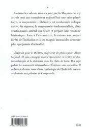 La Fin De La Franc-Maçonnerie - 4ème de couverture - Format classique