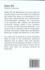 Padre pio - 4ème de couverture - Format classique