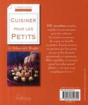 Cuisiner pour les petits - 4ème de couverture - Format classique