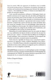 La corne de vache et le microscope ; le vin « nature », entre sciences, croyances et radicalités - 4ème de couverture - Format classique