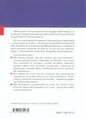 Promenades Mathematiques Histoire Fondements Applications - 4ème de couverture - Format classique