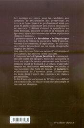 Le commentaire littéraire et l'explication de texte ; CAPES - 4ème de couverture - Format classique