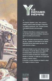 Y Le Dernier Homme T.2 - 4ème de couverture - Format classique