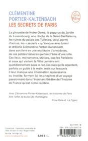 Les secrets de Paris - 4ème de couverture - Format classique