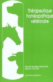 Therapeutique Homeopathique Veterinaire - Intérieur - Format classique