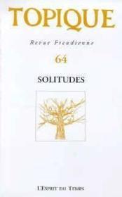 Topique n.64 1997 solitude - Couverture - Format classique
