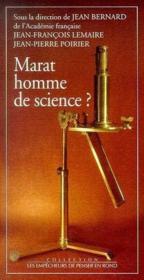 Marat, homme de science ? - Couverture - Format classique