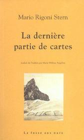 Derniere Partie De Cartes (La) - Intérieur - Format classique