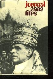 Journal Sans Titre 1939 - 1945. - Couverture - Format classique