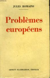 Problemes Europeens. - Couverture - Format classique