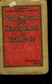 Vade-Mecum Pour L'Enseignement Du Francais - Couverture - Format classique
