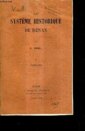 Le Systeme Historique De Renan - I : Introduction. - Couverture - Format classique