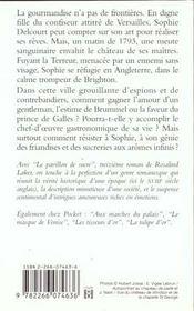 Le Pavillon De Sucre - 4ème de couverture - Format classique