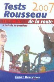 Tests Rousseau De La Route (edition 2007 - Intérieur - Format classique