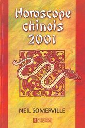 Horoscope Chinois 2001 - Intérieur - Format classique