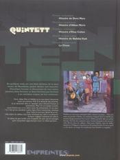 Quintett t.4 ; histoire de nafsika vasli - 4ème de couverture - Format classique