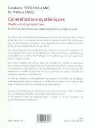 Constellations systémiques ; pratiques et perspectives - 4ème de couverture - Format classique
