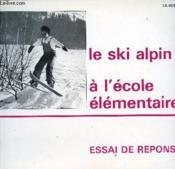 Ski alpin - Couverture - Format classique