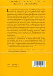 Le Modele Allemand De La Charite ; La Caritas De Guillaume Ii A Hitler - 4ème de couverture - Format classique