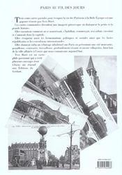 Paris au fil des jours en 1900 - 4ème de couverture - Format classique