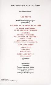Les mots et autres écrits autobiographiques - Couverture - Format classique