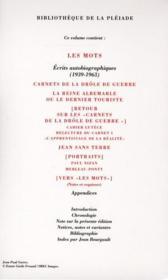 Les mots et autres écrits autobiographiques - 4ème de couverture - Format classique