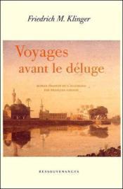 Voyages avant le déluge - Couverture - Format classique
