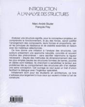 Introduction a l'analyse des structures - 4ème de couverture - Format classique