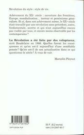 Poesie et revolution - 4ème de couverture - Format classique
