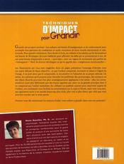 Techniques d'impact pour grandir ; enfants - 4ème de couverture - Format classique