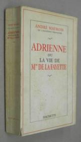 Adrienne ou la vie de Mme De La Fayette. - Couverture - Format classique