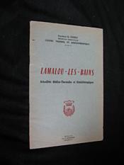 Lamalou-les-bains. Actualités médico-thermales et kinésithérapiques - Couverture - Format classique