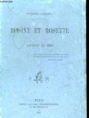 Rosine Et Rosette - Nouvelle En Vers - Couverture - Format classique