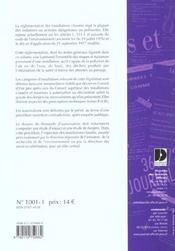 Installations classees pour la protection de l'environnement ; textes generaux et nomenclature - 4ème de couverture - Format classique