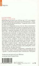 La cite de dieu. t.1. livres i a x - 4ème de couverture - Format classique