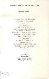 Oeuvres poétiques complètes t.2 - 4ème de couverture - Format classique