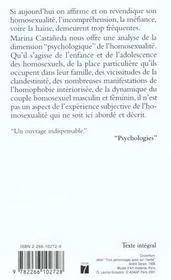 Comprendre L'Homosexualie - 4ème de couverture - Format classique