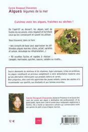 Algues, légumes de la mer - 4ème de couverture - Format classique