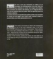 Paris En Memoire - 4ème de couverture - Format classique