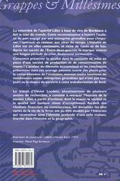 Lillet, 1862-1985. Le Pari D'Une Entreprise Girondine - 4ème de couverture - Format classique
