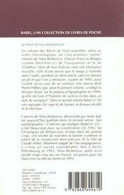Recits de l'exil t1 - 4ème de couverture - Format classique