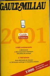Gault Millau ; Guide France 2001 - Couverture - Format classique