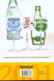 Gault Millau ; Guide France 2001 - 4ème de couverture - Format classique