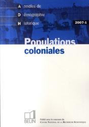 Populations coloniales - Couverture - Format classique