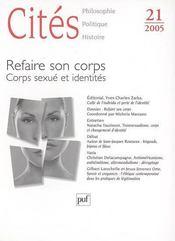 Revue Cites T.21 ; Refaire Son Corps ; Corps Sexué Et Identité - Intérieur - Format classique