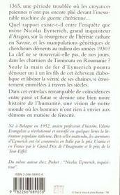 Nicolas Eymerich, inquisiteur T.2 ; les chaînes d'Eymerich - 4ème de couverture - Format classique