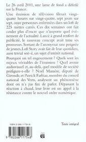 La Vie Revee Du Loft - 4ème de couverture - Format classique