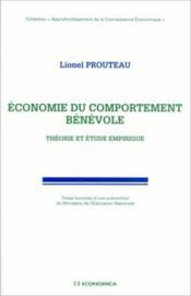 Economie Du Comportement Benevole ; Theorie Et Etude Empirique - Couverture - Format classique