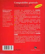 Comptabilite generale. - 4ème de couverture - Format classique