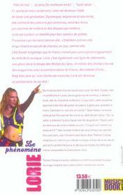 Lorie, Le Phenomene ; Les Dessous Du Succes - 4ème de couverture - Format classique